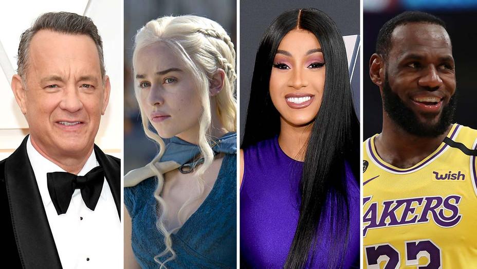 Tom Hanks, 'Game of Thrones,' Cardi B, LeBron James -Getty - Split-H 2020