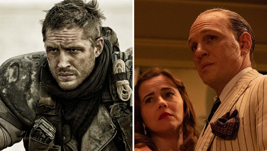 Tom Hardy in Mad Max- Fury Road and Tom Hardy in Capone Split-H 2020
