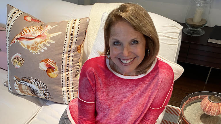 Katie Couric at home
