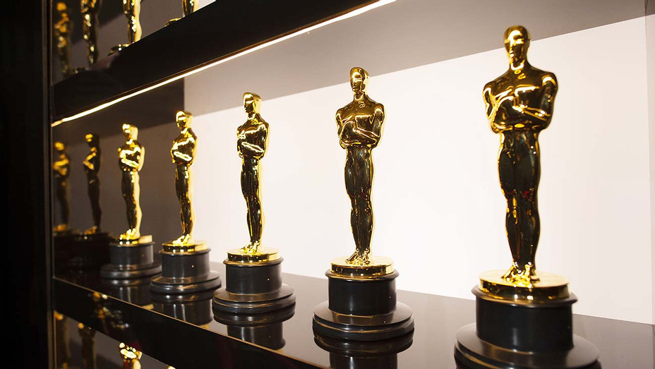 A.M.P.A.S. Oscars statuettes are on display backstage during the 92nd Annual Academy Awards - Getty - H 2020