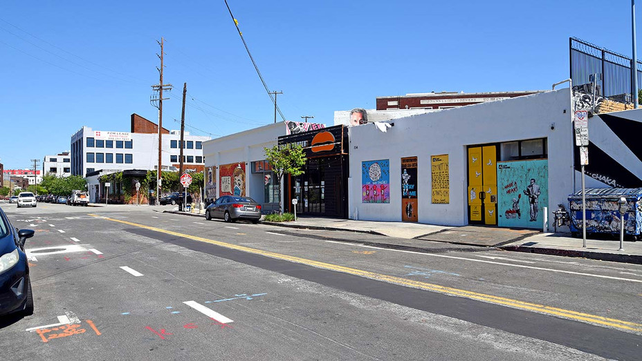 A mostly empty Arts District neighborhood during the coronavirus pandemic on May 20, 2020 in Los Angeles - Getty - H 2020