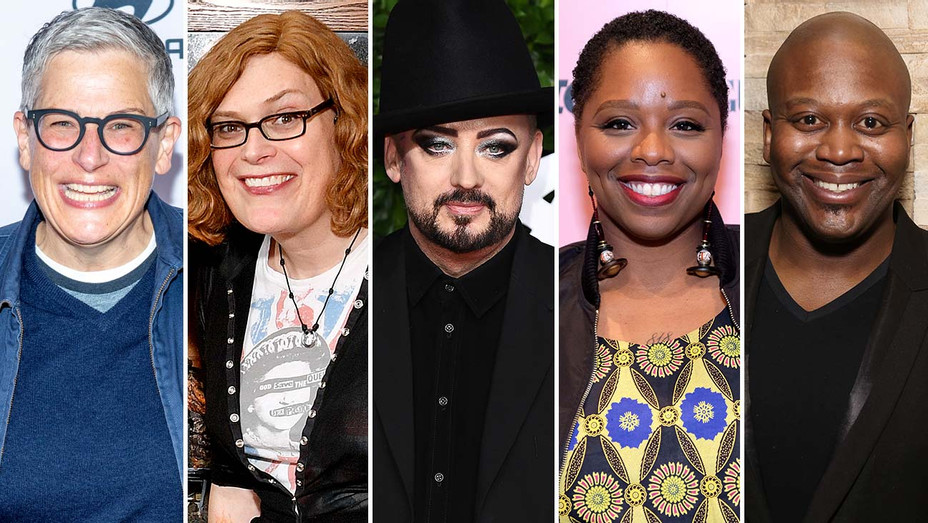 ABBY McENANY, LILLY WACHOWSKI, BOY GEORGE, PATRISSE CULLORS and TITUSS BURGESS -SPLIT-Getty-H 2020