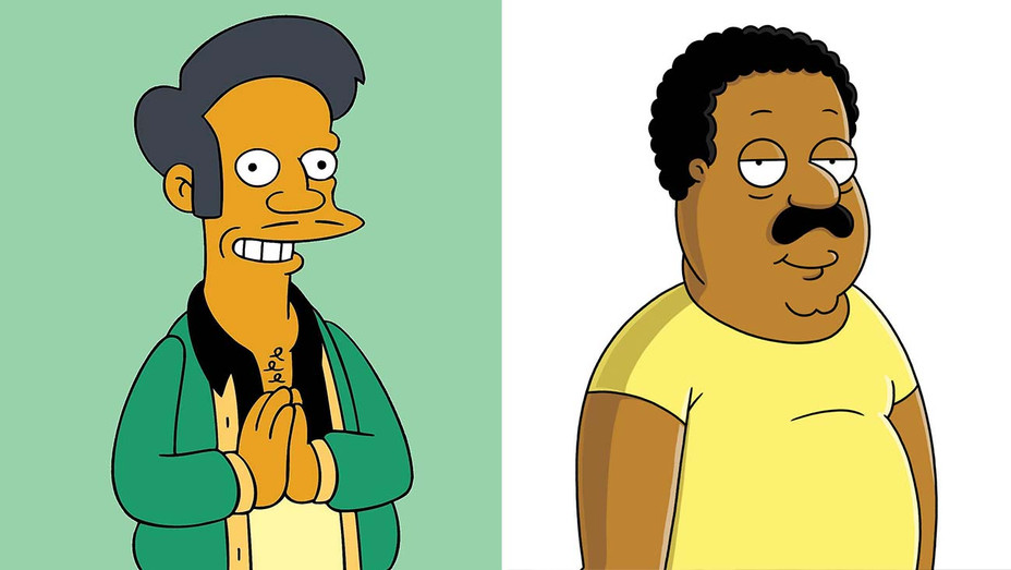 Apu from The Simpsons and Cleveland from Family Guy -Photofest - Split - H 2020