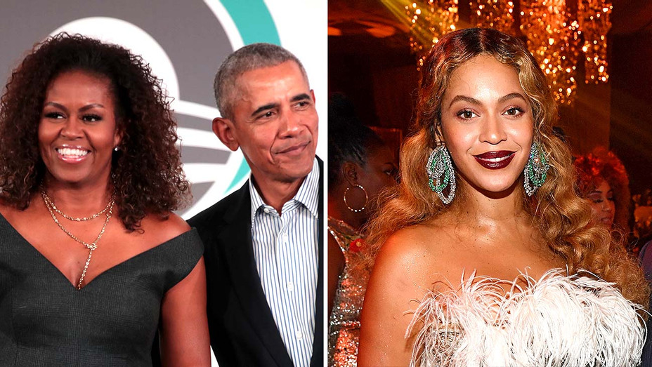 Barack and Michelle Obama and Beyonce - Getty - Split - H 2020