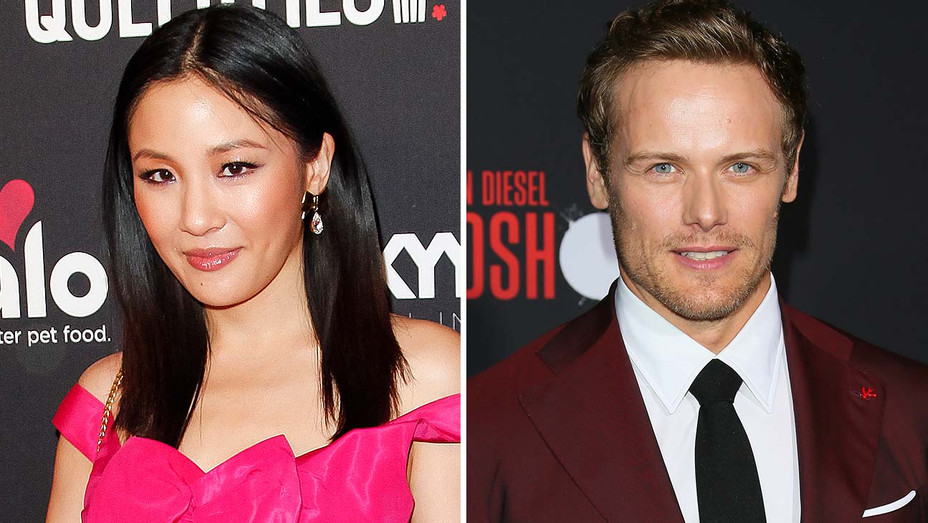 Constance Wu and Sam Heughan - Split-Getty-H 2020