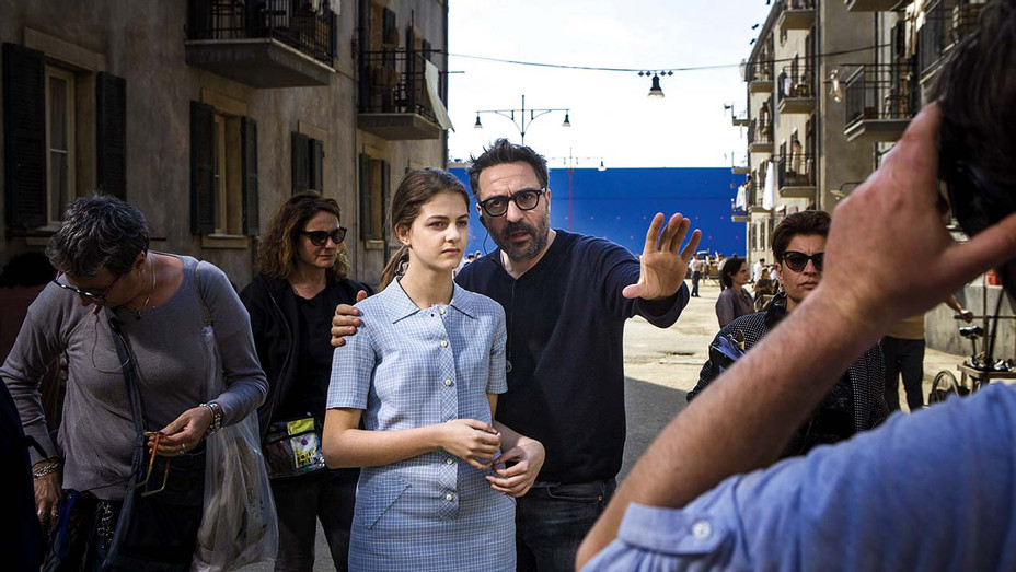 Director Saverio Costanzo -Margherita Mazzucco and director Saverio Costanzo on  the set of My Brilliant Friend, which debuted its second season on HBO in March- Publicity - H 2020