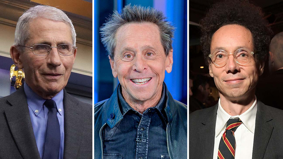 Dr. Anthony Fauci, Brian Grazer and Malcolm Gladwell-Split-Getty-H 2020