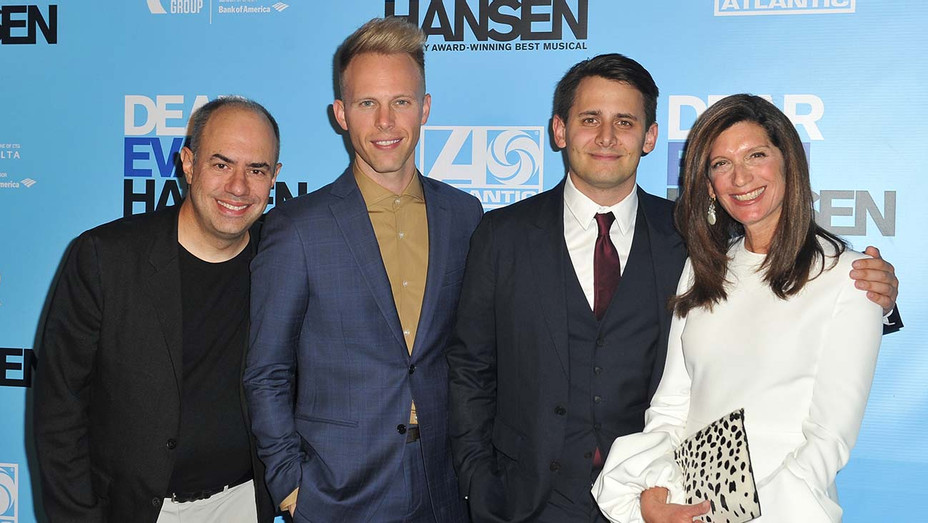 Los Angeles Performance of Dear Evan Hansen -Pete Ganbarg, Justin Paul, Benj Pasek and Stacey Mindich-Getty-H 2020
