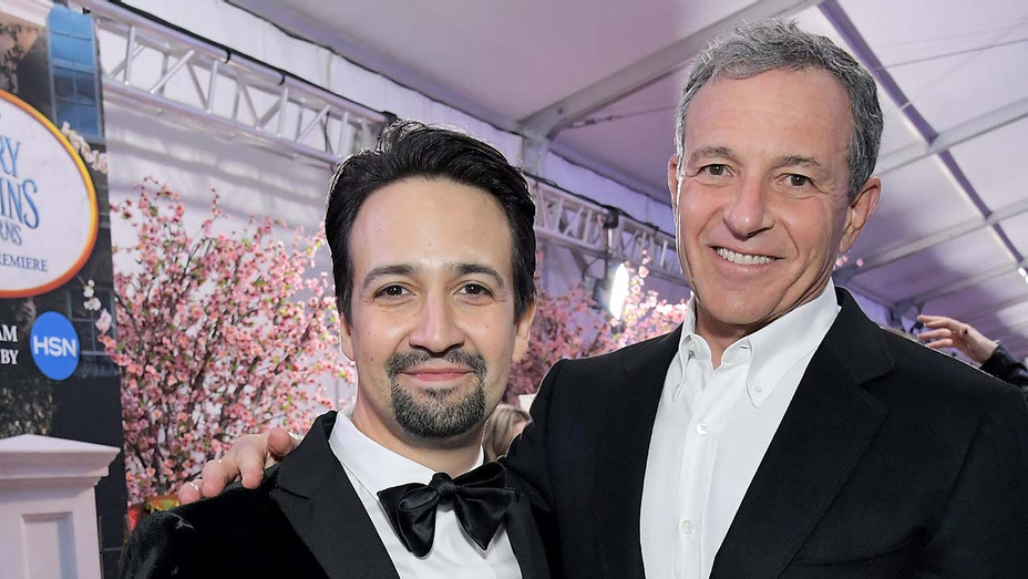 Lin-Manuel Miranda and Bob Iger -Mary Poppins Returns' World Premiere- Getty-H 2020