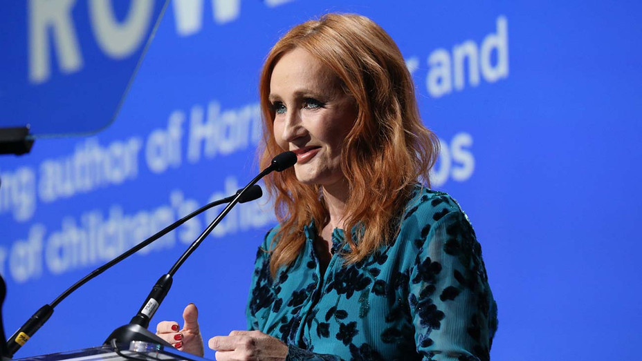 J.K. Rowling accepts an award onstage during the Robert F. Kennedy Human Rights Hosts 2019 - Getty -H 2020