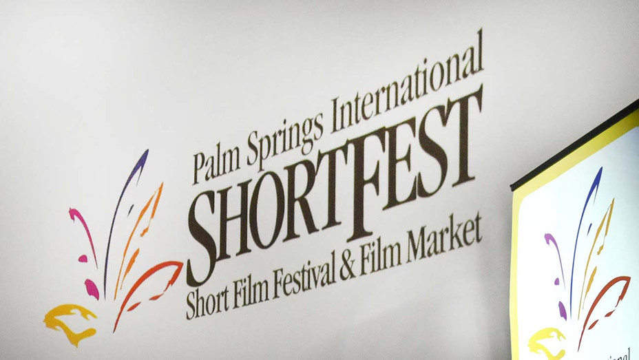 Palm Springs International ShortFest - Sign on stage - Getty-H 2020