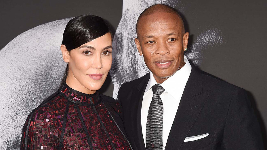 Nicole Young and Dr. Dre- premiere of The Defiant Ones - Getty-H 2020