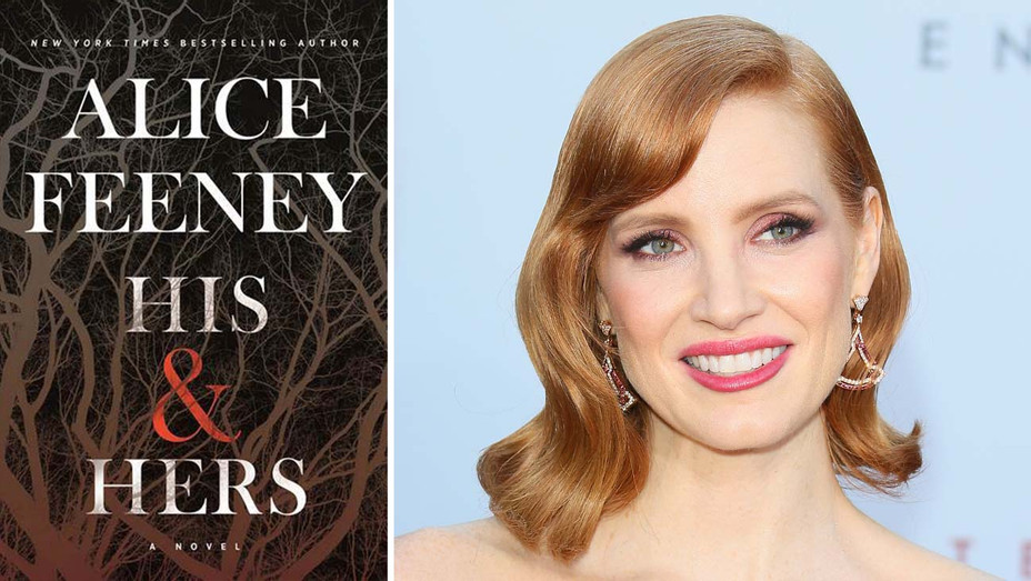 His & Hers book cover -  Jessica Chastain  - Publicity - Getty - Split - H 2020