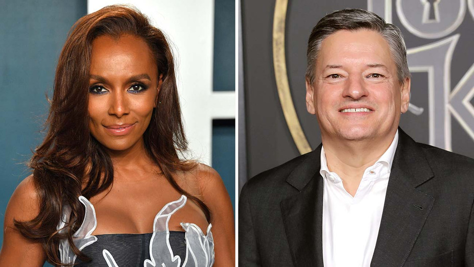 Janet Mock and  Ted Sarandos -Split-Getty-H 2020