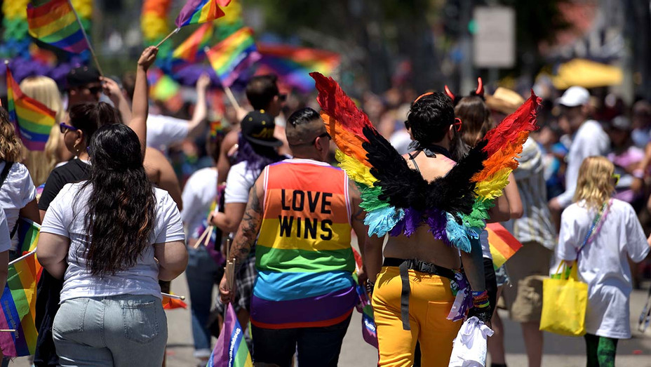 LA Pride Parade in West Hollywood, California, on June 9, 2019 - Getty - H 2020