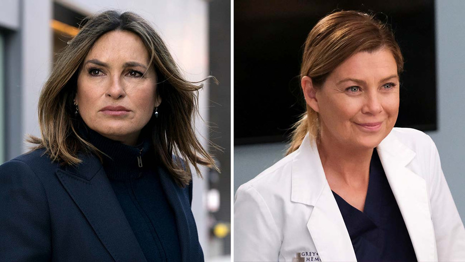 Law & Order: SVU (featuring Mariska Hargitay) and Grey's Anatomy (featuring Ellen Pompeo) - Publicity stills - Split - H 2020