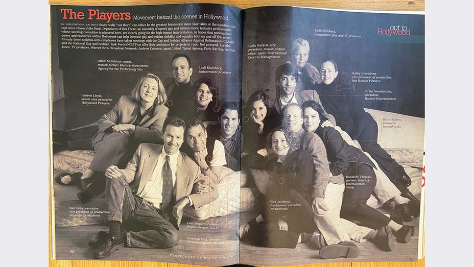 "Looking Back on 'Out There' Collective- ""They'd Call Us the Lavender Mafia""  -Out Magazine in 1996- Publicity - H 2020"