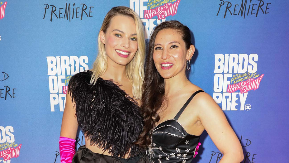 Margot Robbie and Christina Hodson together at a Birds of Prey event - Publicity - H 2020