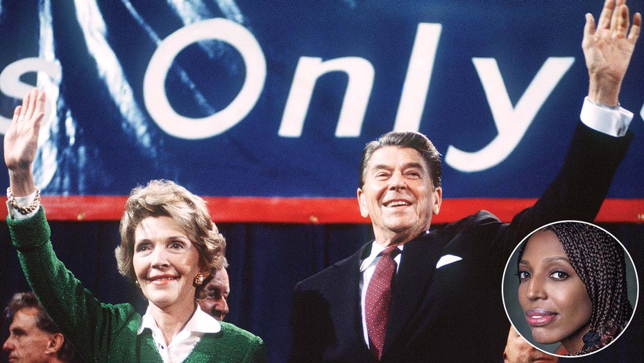 Ronald Reagan and his wife Nancy and inset of Keli Goff -Getty-H 2020