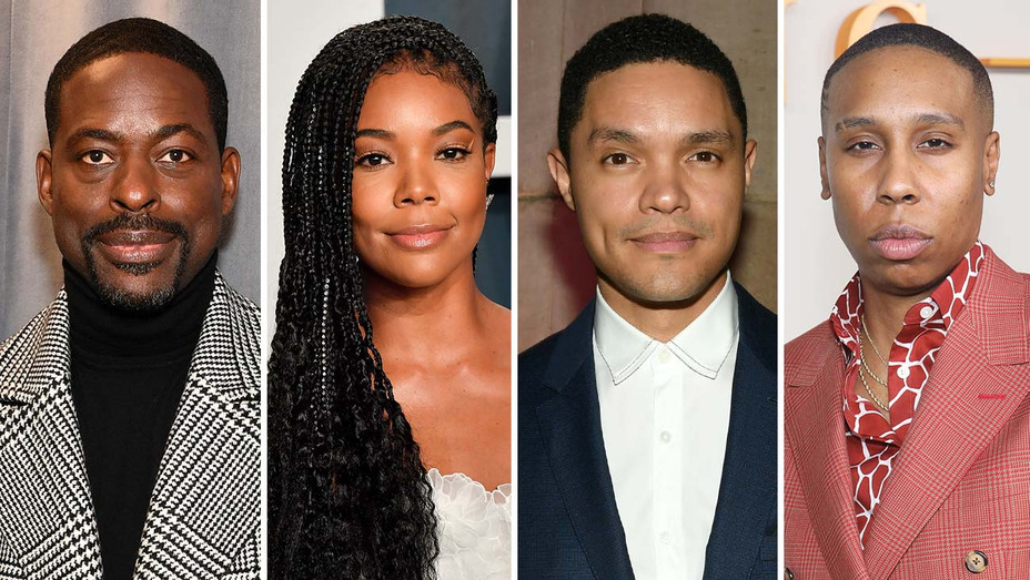Sterling K Brown, Gabrielle Union, Trevor Noah, Lena Waithe-Split-Getty-H 2020