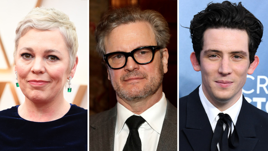 Olivia Colman, Colin Firth, Josh O'Connor split - H Getty - 2020