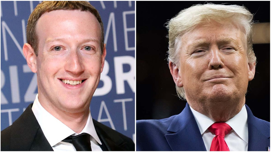 Trump and Zuckerberg Split - Getty - H 2020