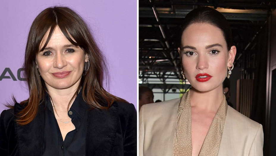 Emily Mortimer and Lily James -Getty -Split-H 2020