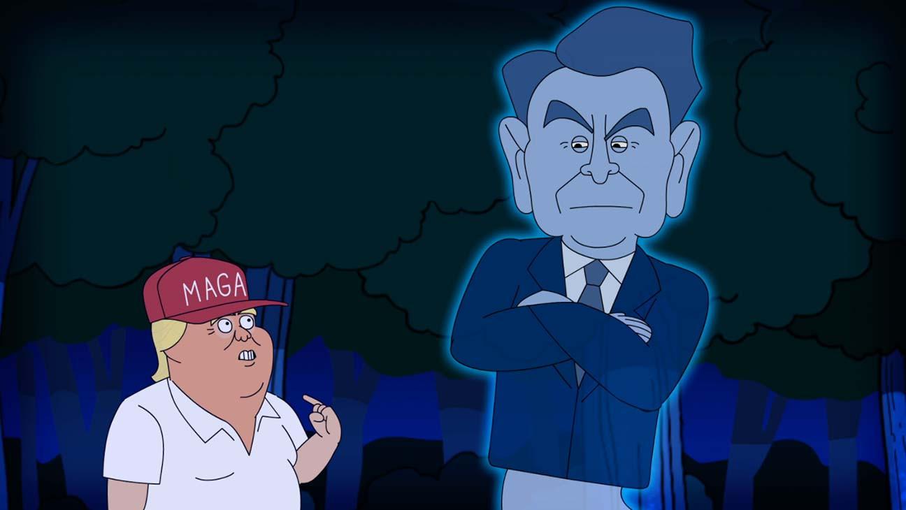 Animated Trump Battles Ghost of Reagan in New Rap Cartoon (Exclusive)