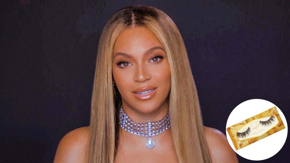 Beyoncé's BET appearance and inset of Rokael Lizama eyelash kit-H 2020