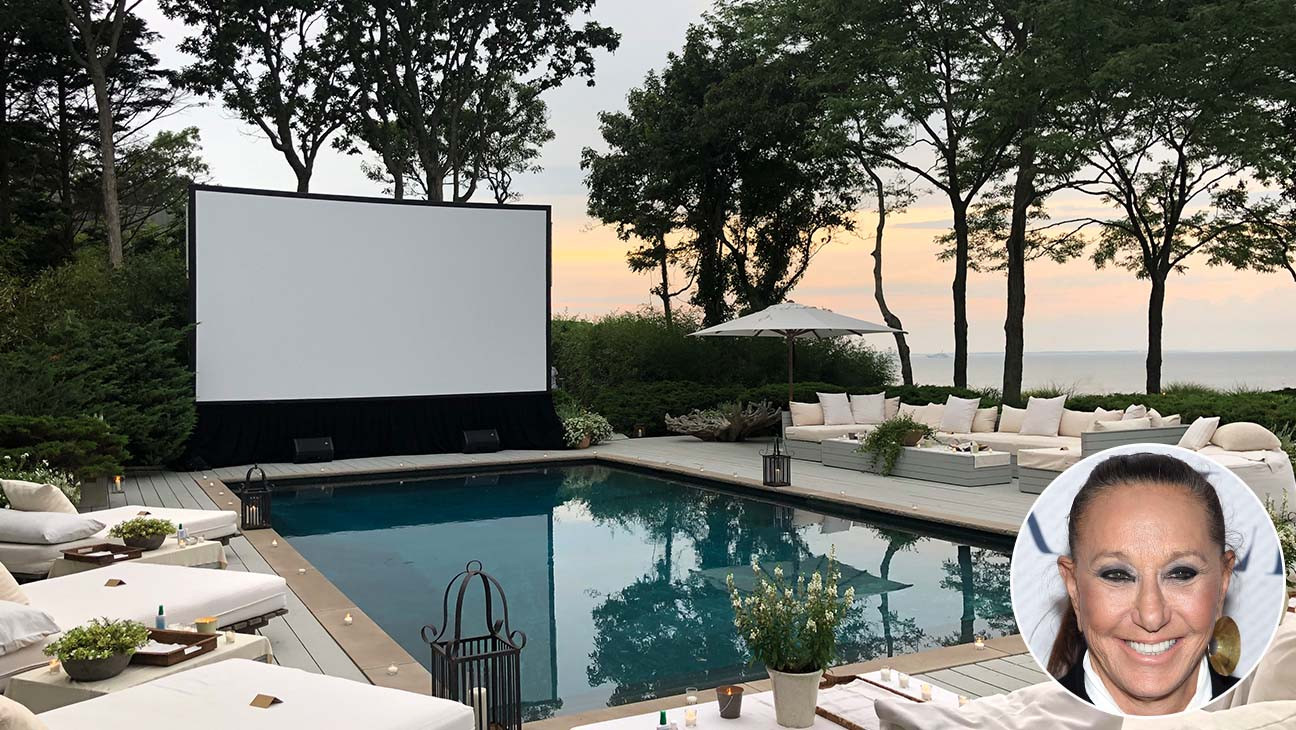 Donna Karan Hosts Socially Distant Screening Event at East Hampton Home