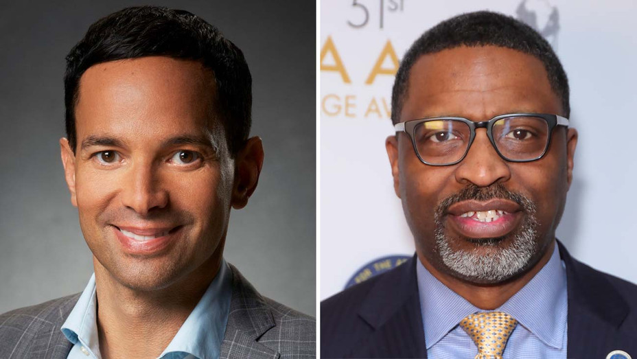 George Cheeks, President and CEO of the CBS Entertainment Group, and Derrick Johnson, President and CEO of the NAACP-Getty - H 2020