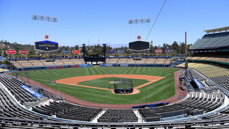 General view of the field at Los Angeles Dodgers Field July 03, 2020 - Getty-H 2020