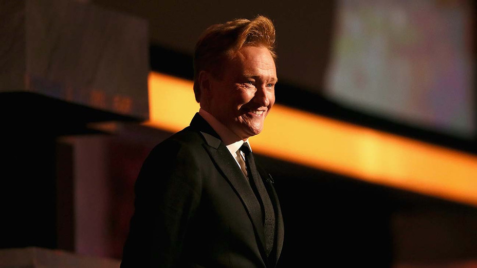 Conan O'Brien speaks onstage during the 2015 AFI Life Achievement Award Gala - Getty -H 2020