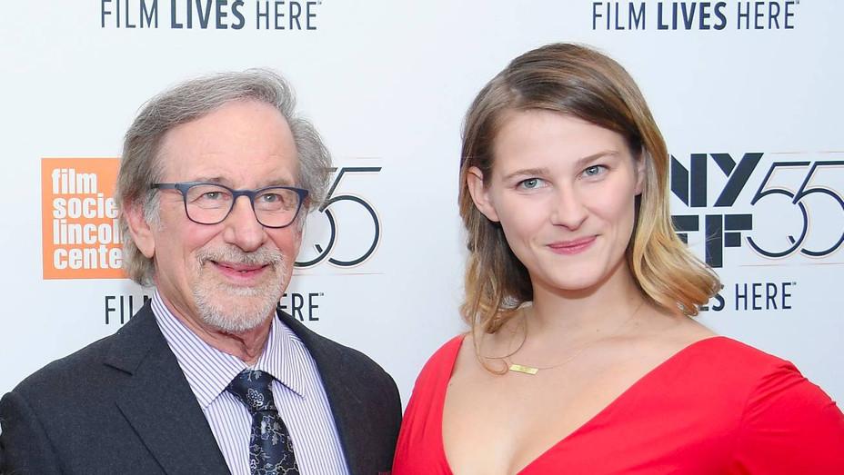 Steven Spielberg and Destry Allyn in 2017 - H Getty 2020