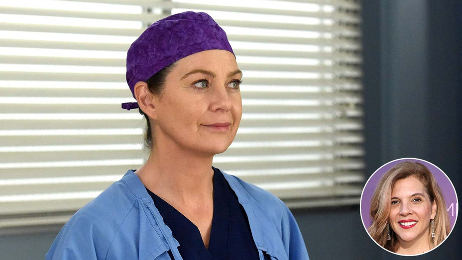 Grey's Anatomy featuring Ellen Pompeo with an inset of showrunner Krista Vernoff -Getty-Publicity-Inset-H 2020