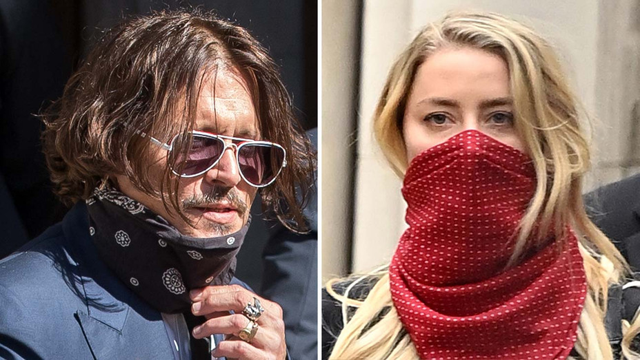 Johnny Depp -Amber Heard-court date- July 07, 2020 -Getty - Split - H 2020
