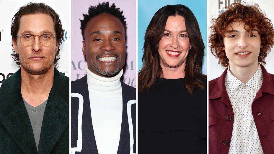Matthew McConaughey, Billy Porter, Alanis Morisette, Finn Wolfhard - Getty-H 2020