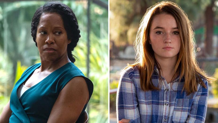 Regina King in Watchmen and Kaitlyn Dever in Unbelievable - Publicity stills - Split - h 2020