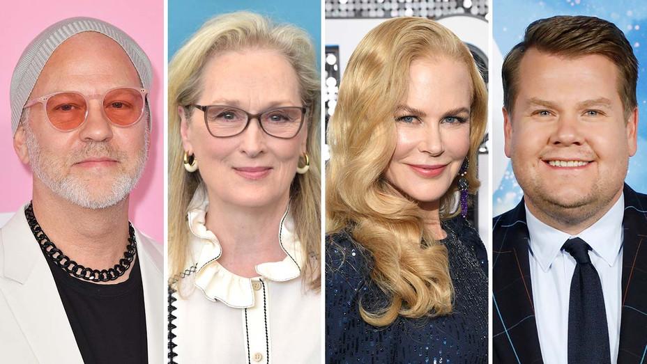 Ryan Murphy, Meryl Streep, Nicole Kidman and James Corden- Getty - Split - H 2020