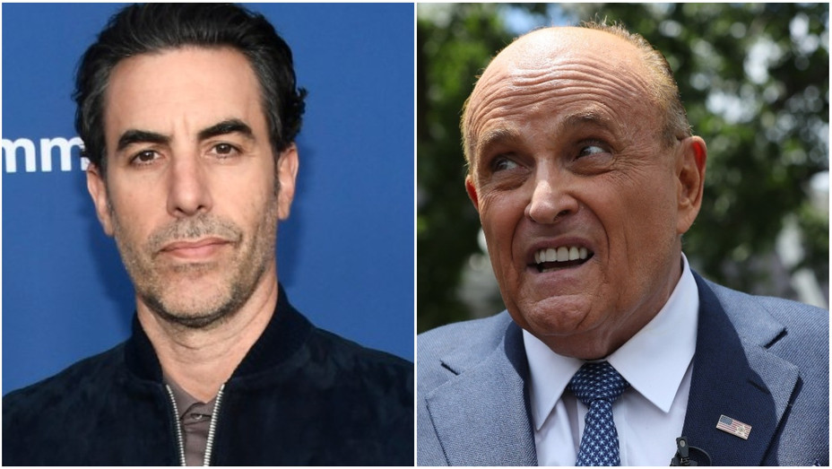 Sacha Baron Cohen, Rudy Giuliani - Getty - H 2020