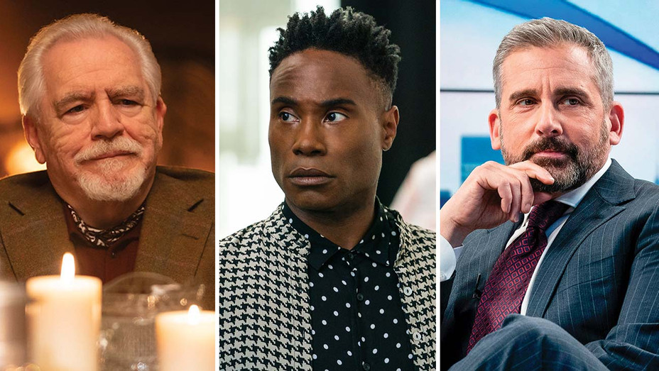 Emmy's - Brian Cox, Billy Porter and Steve Carell -Split-H 2020