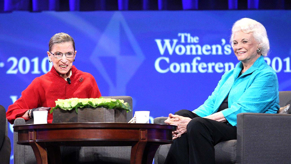 Associate Justice Ruth Bader Ginsburg, and Former Associate Justice Sandra Day O' Connor-Getty- H 2020