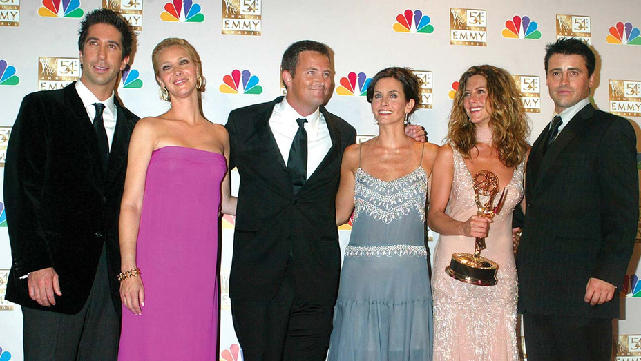 54th Annual Emmy Awards - Cast members of Friends- winner for Best Comedy Series -Getty -H 2020