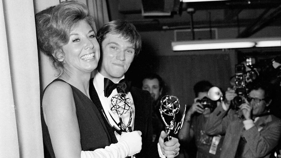 ONE TIME USE ONLY - Michael Learned and Richard Thomas Emmy Awards  1973- Getty-H 2020