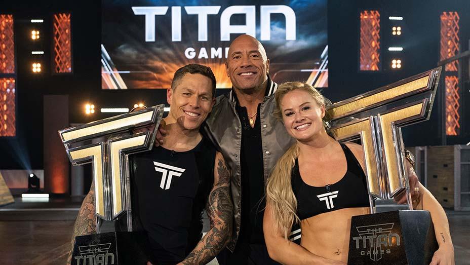 THE TITAN GAMES -The Titan Games Championship - Episode 213-Matt Chan, Dwayne Johnson, Dani Speegle -H 2020