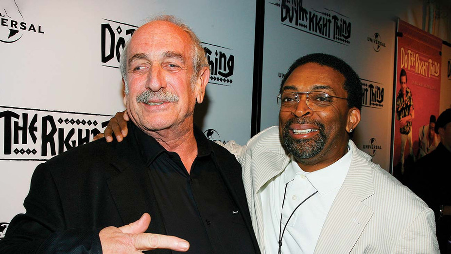 ONE TIME USE ONLY -Spike lee and Tom Pollock-Pollock  and Spike Lee at a 2009 screening of Do the  Right Thing.-SHUTTERSTOCK - H 2020