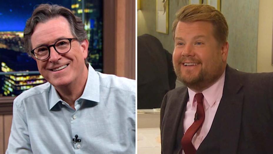 Stephen Colbert and James Corden-Split-Publicity-H 2020