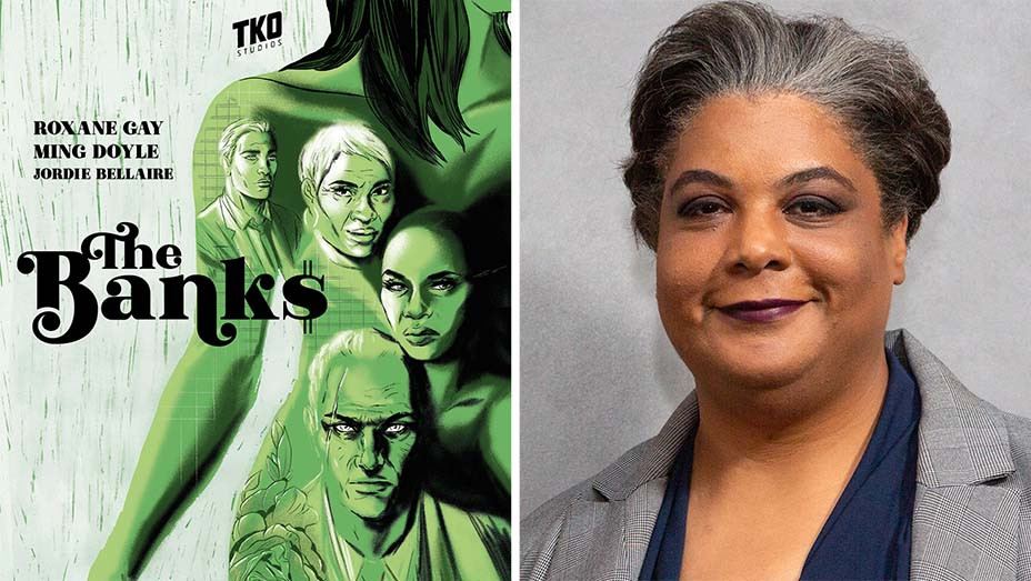 The Banks Book Cover and Roxane Gay - Split-Getty-H 2020