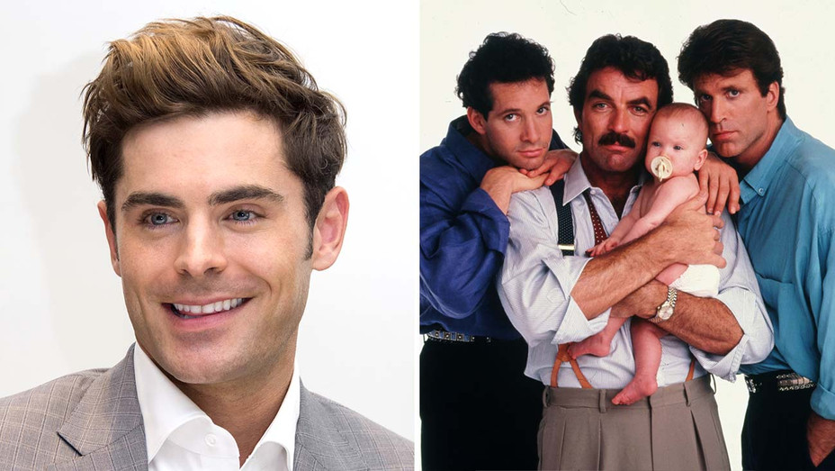Zac Efron - Three Men and a Baby - Getty - Photofest - split - H 2020