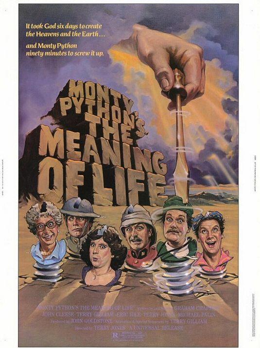 Monty Python's The Meaning of Life / The Adventures of Baron Munchausen One Sheet - P 2013
